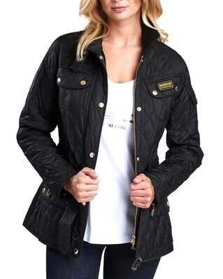 Barbour International Quilt Black