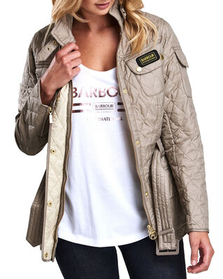 Barbour International Quilt  Taupe/Pearl