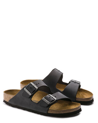 Birkenstock Arizona Oiled Leather Classic Footbed Black