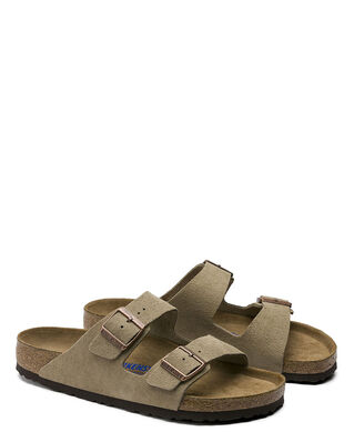 Birkenstock Arizona Suede Leather Soft Footbed Taupe