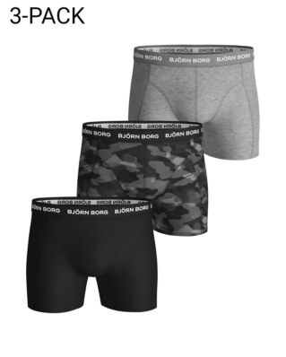 Björn Borg 3P Shorts BB Shadeline Black Beauty