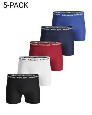 Björn Borg 5P Shorts Noos Solids Black