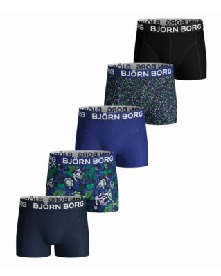 Björn Borg JUNIOR 5-Pack Shorts Bb Strong Flower Mini & Bb Tiny Flower Peacoat