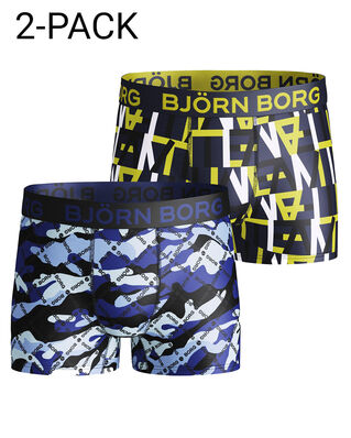 Björn Borg Junior Shorts Farell Bb Logo Camo 2-Pack Surf The Web