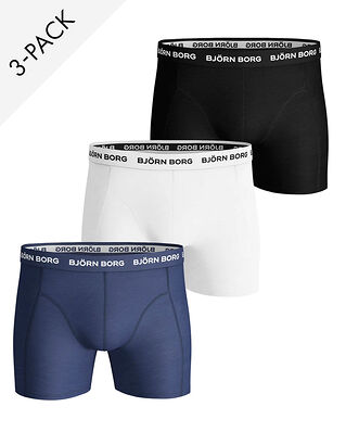 Björn Borg 3P Shorts Noos Solids Blue Depths