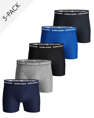 Björn Borg 5P Shorts Noos Solid Blue Depths