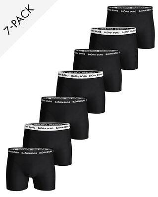 Björn Borg 7-Pack Shorts Solid Black