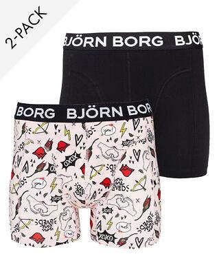 Björn Borg Shorts Sammy Bb Xoxo 2-Pack Blushing Bride