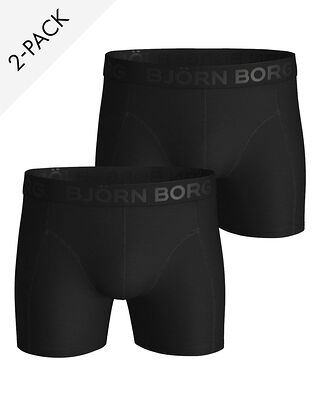 Björn Borg 2-Pack Shorts Sammy Solids Black Beauty