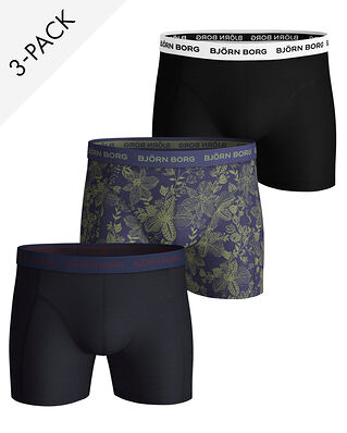 Björn Borg 3-Pack Shorts Sammy Bb Fiji Flower Crown Blue