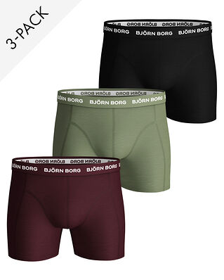 Björn Borg 3-Pack Shorts Sammy Seasonal Solids Winetasting