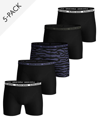 Björn Borg 5-Pack Shorts Sammy Bb 2Tiger Crown Blue