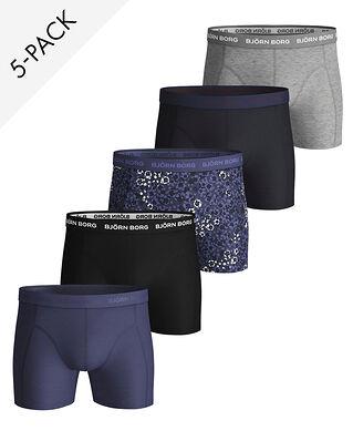 Björn Borg 5-Pack Shorts Sammy Bb Ditsy Flower Crown Blue