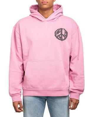 BLK DNM Sweater 11 Pink Black Small Peace Print