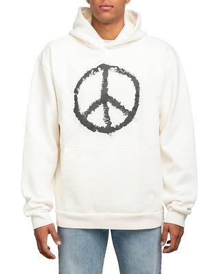 BLK DNM Sweater 11 White Black Peace Print
