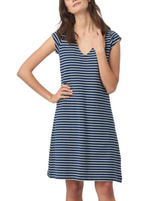 Boomerang Bella Pique Dress Stripe Midnight Blue