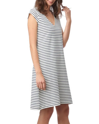 Boomerang Bella Pique Dress Stripe Offwhite