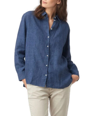 Boomerang Lina Linen Shirt Blue Nights