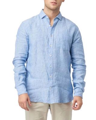 Boomerang Linus Linen T.A. Fit Cut Away Shirt Light Indigo