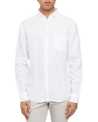 Boomerang Linus Linen T.A. Fit Cut Away Shirt White