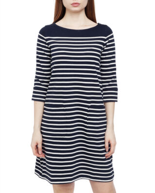 Boomerang Lykke Striped Dress Midnight Blue