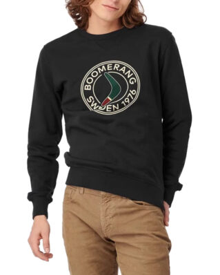 Boomerang Pelle Crew Neck Sweatshirt Black