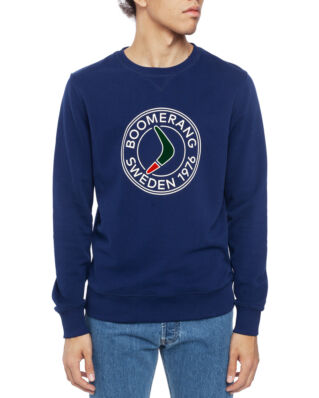 Boomerang Pelle Crew Neck Sweatshirt New Blue