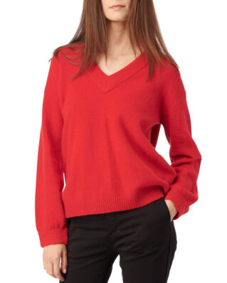 Boomerang Rutan V-Neck Sweater Postbox Red