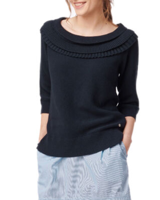 Boomerang Valentina Frill Sweater Midnight Blue