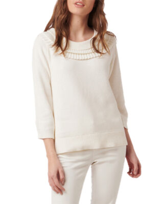 Boomerang Valentina Frill Sweater Offwhite