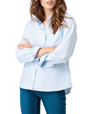Boomerang Lilly Striped Organic Oxford Shirt Ice Blue