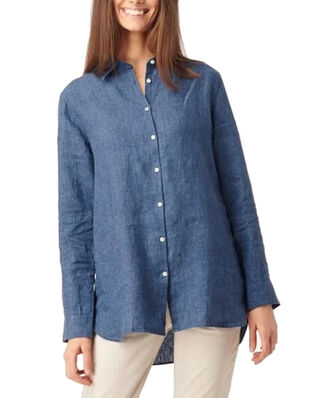 Boomerang Lina Linen Shirt Dark Indigo