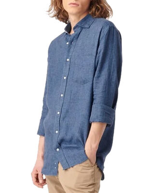 Boomerang Linus Linen Shirt Blue Nights