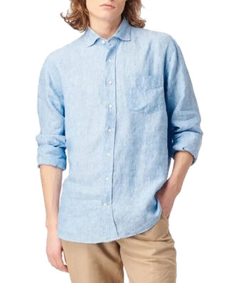 Boomerang Linus Linen Shirt Light indigo