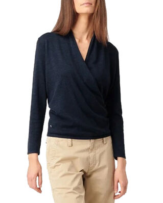 Boomerang Sarali Wrap Sweater Night Sky