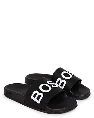 BOSS Bay_Slid_rblg 10224455 01 Black/White