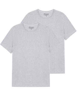 Bread & Boxers M's 2-Pack Crew Neck Grey Melange