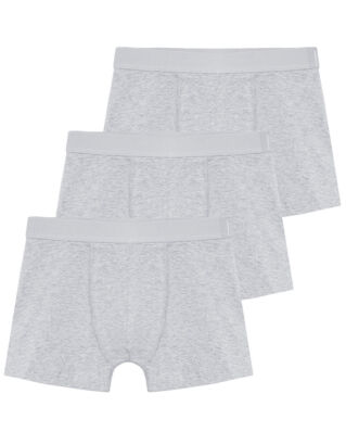 Bread & Boxers M's 3-Pack Boxer Brief Grey Melange