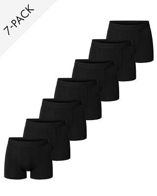 Bread & Boxers 7-Pack Boxer Brief Black