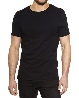 Bread & Boxers Crew Neck Regular Black
