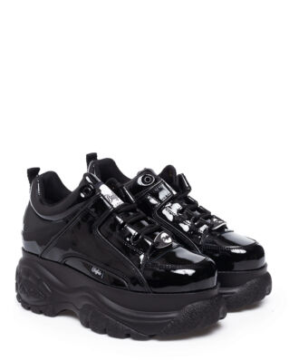 Buffalo Classic Kick Patent Leather Patent Negro 01
