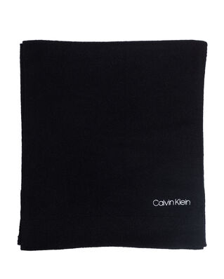 Calvin Klein  Boiled Wool Scarf Black