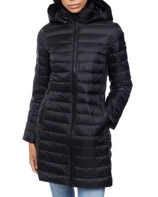 Calvin Klein  Coated Zip Light Down Coat Calvin Black