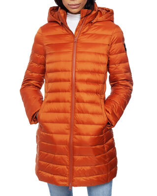 Calvin Klein  Coated Zip Light Down Coat Ginger Bread