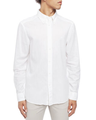 Calvin Klein  Cotton Linen Poplin Shirt Perfect White