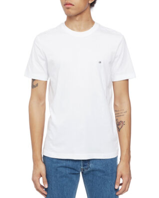 Calvin Klein  Cotton Logo Embroidery T-Shirt Perfect White