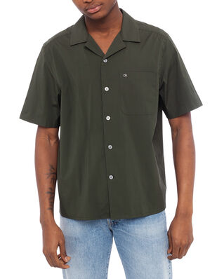 Calvin Klein  Cuban Collar Short Sleeve Shirt Ck Dark Olive