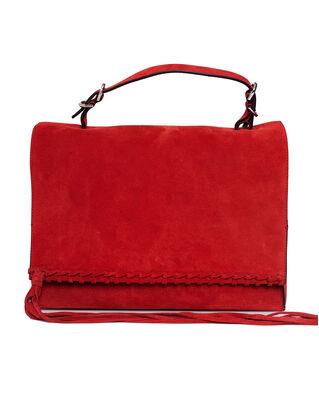Calvin Klein  Fringe Satchel Su Barn Red