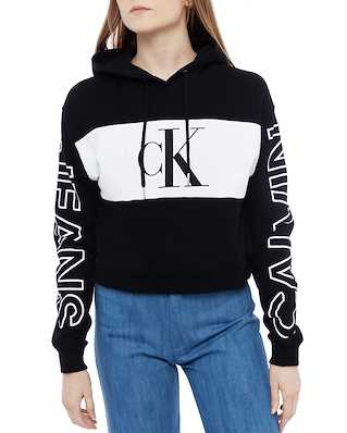 Calvin Klein Jeans Blocking Satement Lo Hoodie Ck Black/White/Ck Black