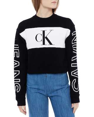 Calvin Klein Jeans Blocking Satement Lo Sweater Ck Black/Bright White